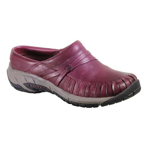 Womens Merrell Encore Pleat Slide Casual Shoe - Wine 10