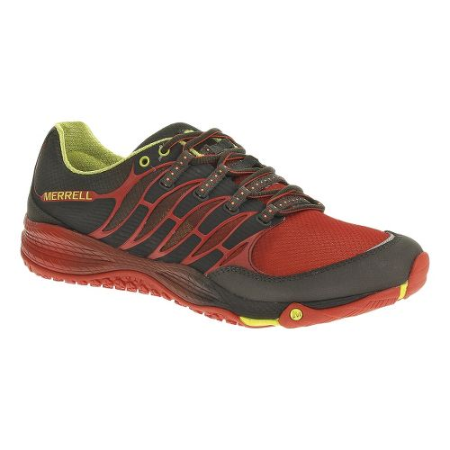 Mens Merrell Allout Fuse Trail Running Shoe - Carbon/Lantern 10