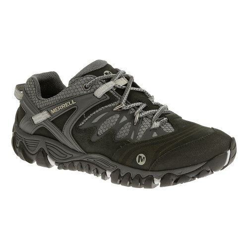 Mens Merrell Allout Blaze Hiking Shoe - Black/Silver 8