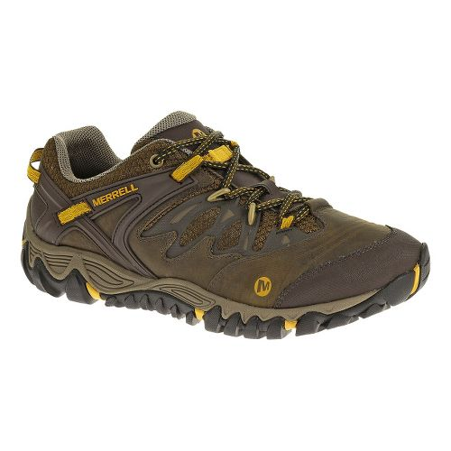 Mens Merrell Allout Blaze Hiking Shoe - Black Slate/Yellow 12.5