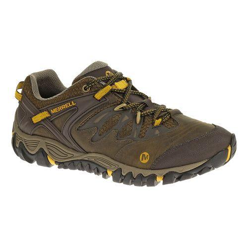 Mens Merrell Allout Blaze Hiking Shoe - Black Slate/Yellow 9.5