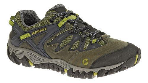 Mens Merrell Allout Blaze Hiking Shoe - Navy/Moss 7
