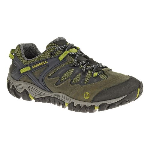 Mens Merrell Allout Blaze Hiking Shoe - Navy/Moss 9.5