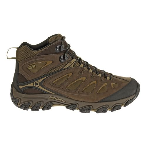 Mens Merrell Pulsate Mid Waterproof Hiking Shoe - Espresso 12