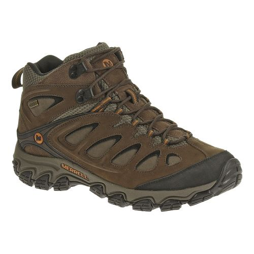 Mens Merrell Pulsate Mid Waterproof Hiking Shoe - Black/Bracken 11