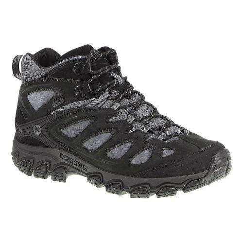 Mens Merrell Pulsate Mid Waterproof Hiking Shoe - Black/Castlerock 10