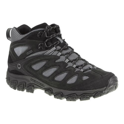 Mens Merrell Pulsate Mid Waterproof Hiking Shoe - Black/Castlerock 12