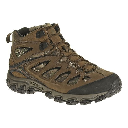 Mens Merrell Pulsate Camo Mid Waterproof Hiking Shoe - Camo 9.5