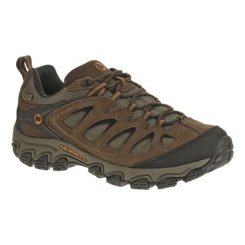 Mens Merrell Pulsate Waterproof Hiking Shoe - Black/Bracken 12