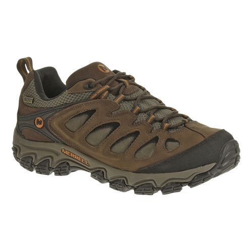 Mens Merrell Pulsate Waterproof Hiking Shoe - Black/Bracken 7