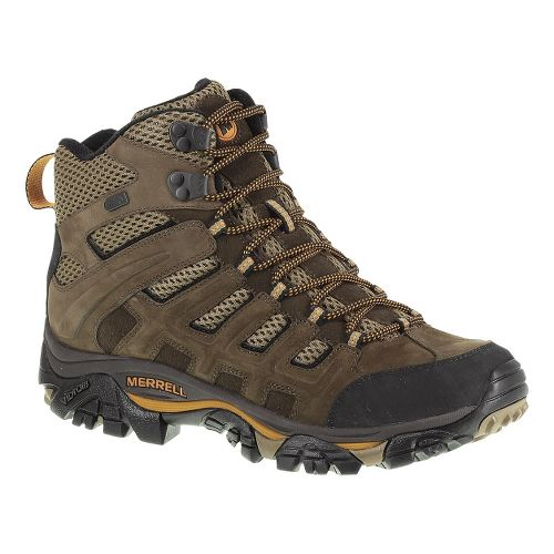 Mens Merrell Moab Peak Ventilator Waterproof Hiking Shoe - Black Slate 10