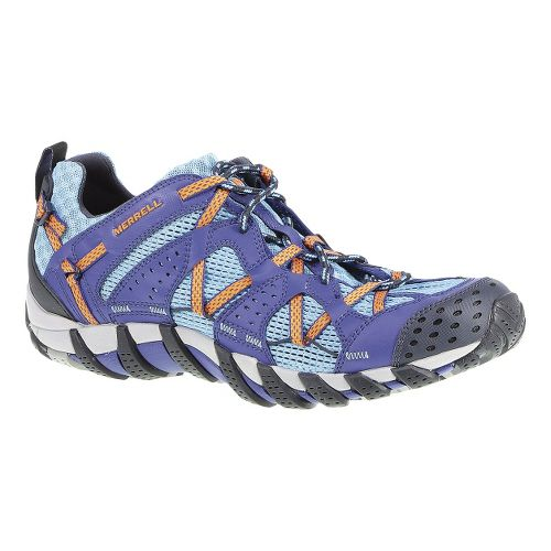 Mens Merrell Waterpro Maipo Trail Running Shoe - Blue/Orange Peel 7