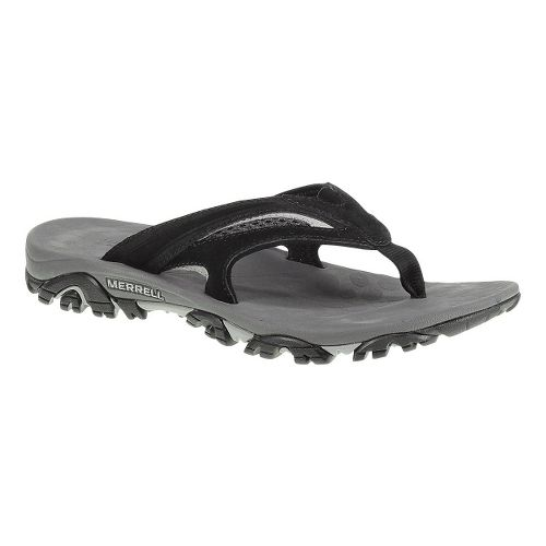 Mens Merrell Moab Drift Flip Sandals Shoe - Black 15