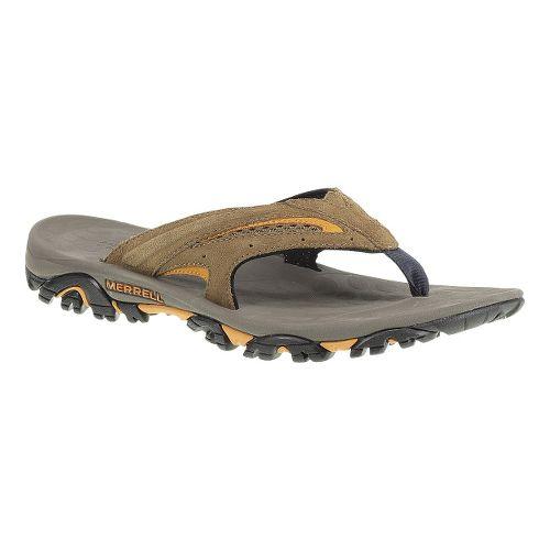 Mens Merrell Moab Drift Flip Sandals Shoe - Dark Earth 13