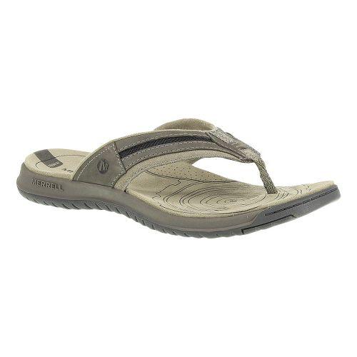 Mens Merrell Traveler Tilt Flip Sandals Shoe - Boulder 12
