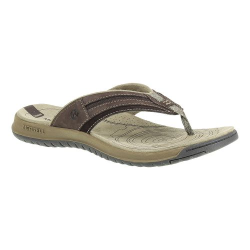 Mens Merrell Traveler Tilt Flip Sandals Shoe - Espresso 12