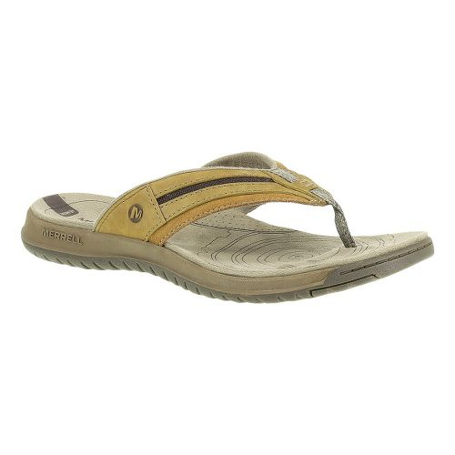 Mens Merrell Traveler Tilt Flip Sandals Shoe - Tea Leaf 12