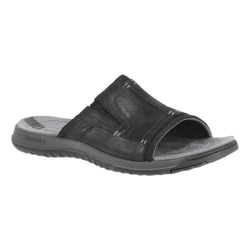 Mens Merrell Traveler Tilt Slide Sandals Shoe - Black 15