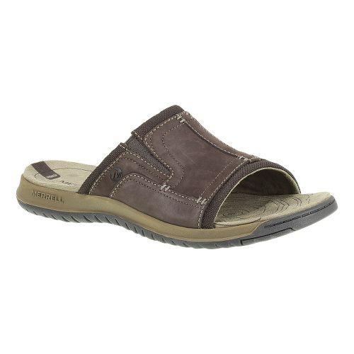 Mens Merrell Traveler Tilt Slide Sandals Shoe - Espresso 12