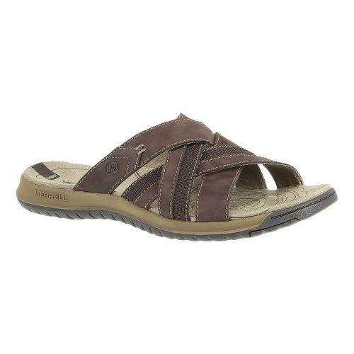 Mens Merrell Traveler Tilt Cross Sandals Shoe - Espresso 14