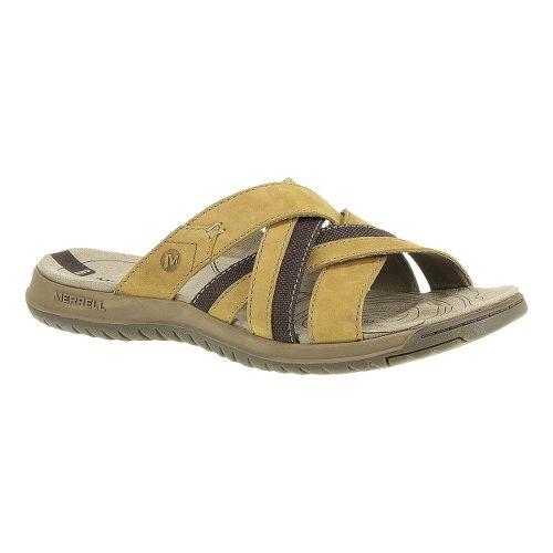 Mens Merrell Traveler Tilt Cross Sandals Shoe - Tea Leaf 12