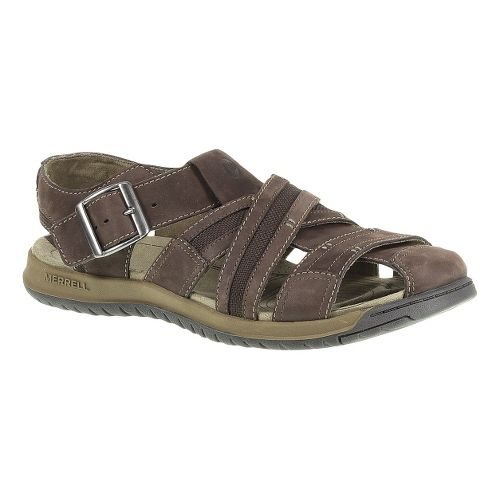 Mens Merrell Traveler Fisher Sandals Shoe - Espresso 8