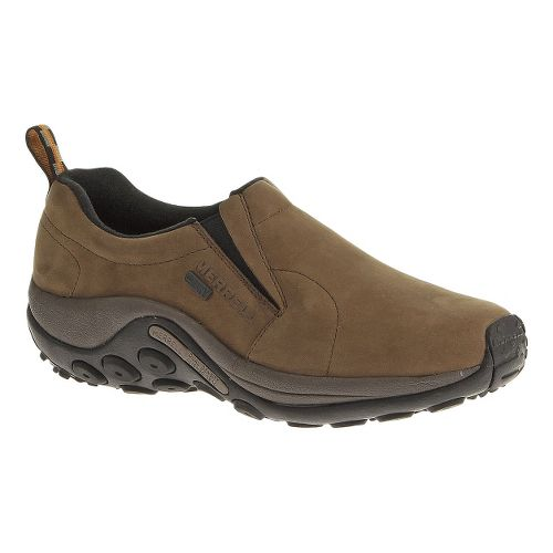 Mens Merrell Jungle Moc Nubuck Waterproof Casual Shoe - Brown 10