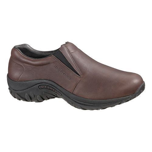 Mens Merrell Jungle Moc Leather Casual Shoe - Mahogany/Brown 14