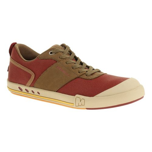 Mens Merrell Rant Knoll Lace Casual Shoe - Red Ochre 8