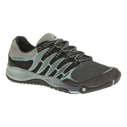 Womens Merrell Allout Fuse Trail Running Shoe - Black/Eggshell Blue 9