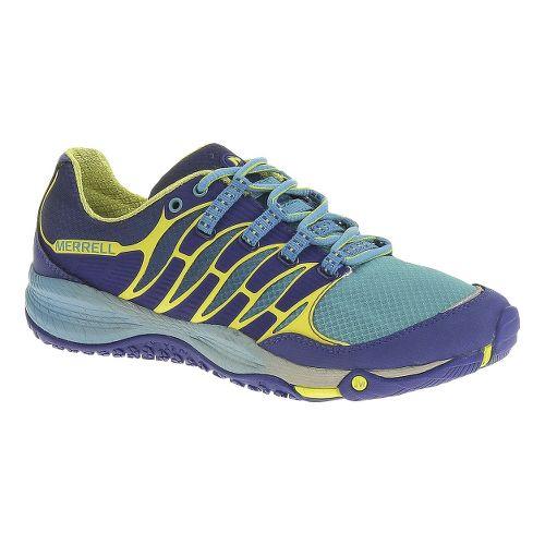 Womens Merrell Allout Fuse Trail Running Shoe - Blue/High Viz 7.5