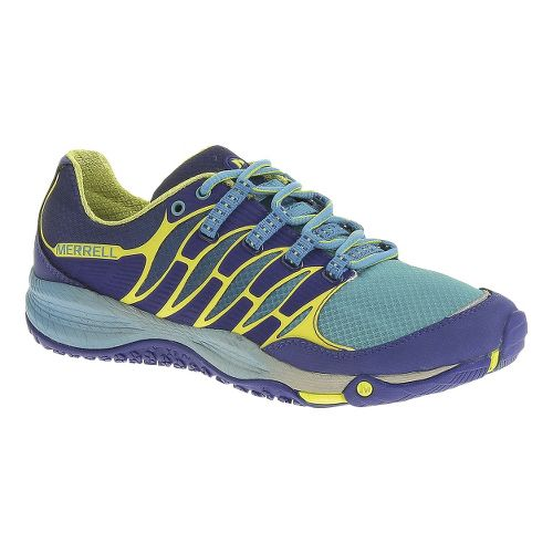 Womens Merrell Allout Fuse Trail Running Shoe - Blue/High Viz 8.5