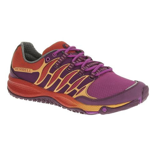 Womens Merrell Allout Fuse Trail Running Shoe - Purple/Orange 6.5