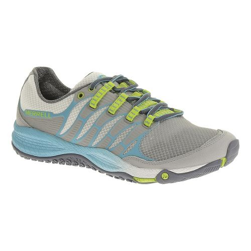 Womens Merrell Allout Fuse Trail Running Shoe - Sleet/Lime 6.5