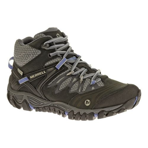 Womens Merrell Allout Blaze Mid Waterproof Hiking Shoe - Black/Silver 9.5