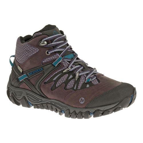 Womens Merrell Allout Blaze Mid Waterproof Hiking Shoe - Plum Perfect 5