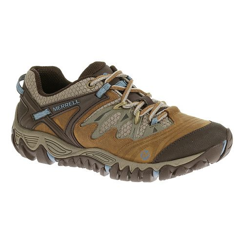 Womens Merrell Allout Blaze Waterproof Hiking Shoe - Brown Sugar 10.5