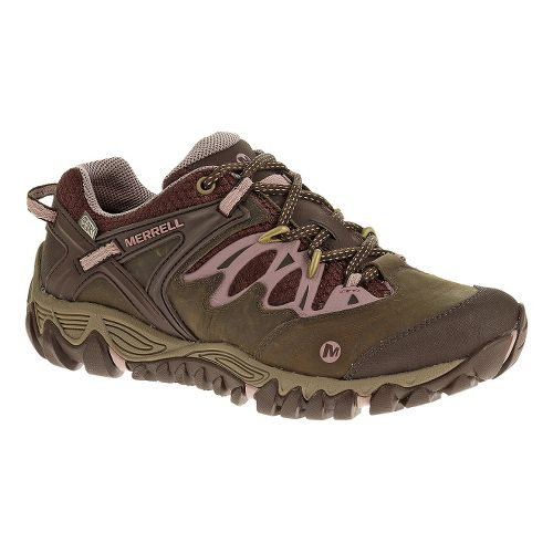 Womens Merrell Allout Blaze Waterproof Hiking Shoe - Black Slate/Blue Ashes 5