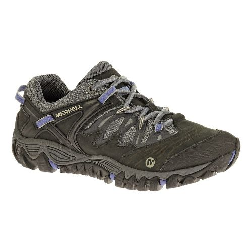 Womens Merrell Allout Blaze Hiking Shoe - Black/Silver 10