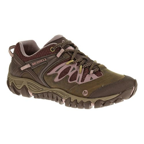 Womens Merrell Allout Blaze Hiking Shoe - Black Slate/Blue Ashes 7.5