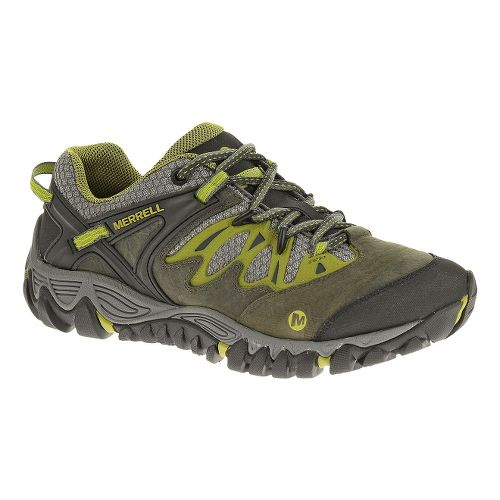 Womens Merrell Allout Blaze Hiking Shoe - Charcoal/Moss 10.5