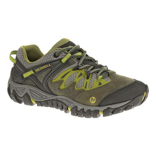 Womens Merrell Allout Blaze Hiking Shoe - Charcoal/Moss 7.5
