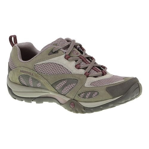Womens Merrell Azura Hiking Shoe - Aluminum/Rose 9.5
