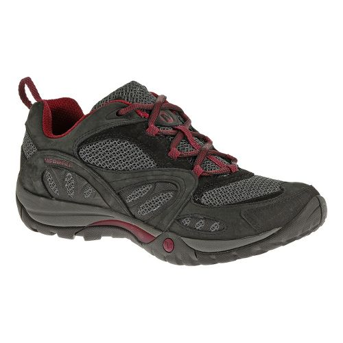 Womens Merrell Azura Hiking Shoe - Black/Wine 7.5