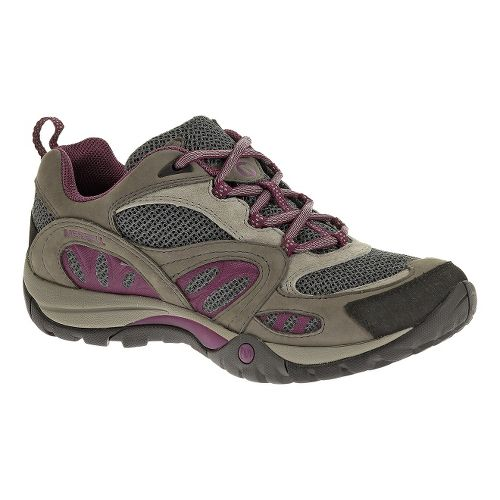 Womens Merrell Azura Hiking Shoe - Castlerock/Purple 9.5