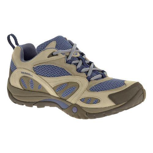 Womens Merrell Azura Hiking Shoe - Silver Lining/Blue 5
