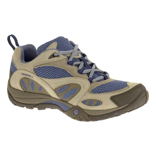 Womens Merrell Azura Hiking Shoe - Silver Lining/Blue 7.5