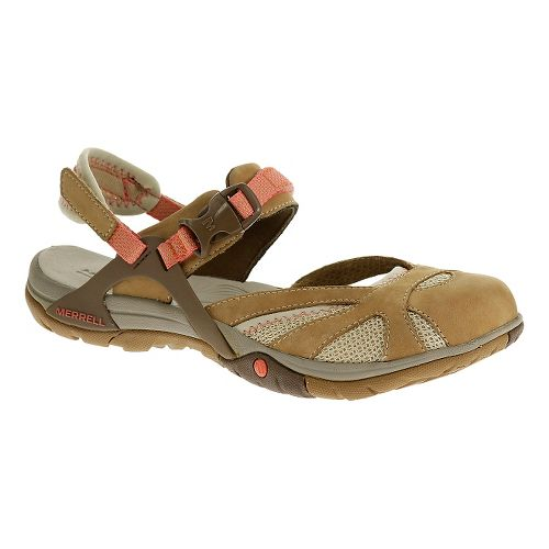Womens Merrell Azura Wrap Sandals Shoe - Tan 11