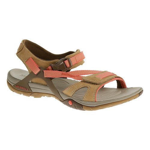 Womens Merrell Azura Strap Sandals Shoe - Tan 5