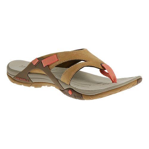 Womens Merrell Azura Flip Sandals Shoe - Tan 5